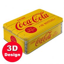 Coca Cola Logo - Embossed Storage Tin
